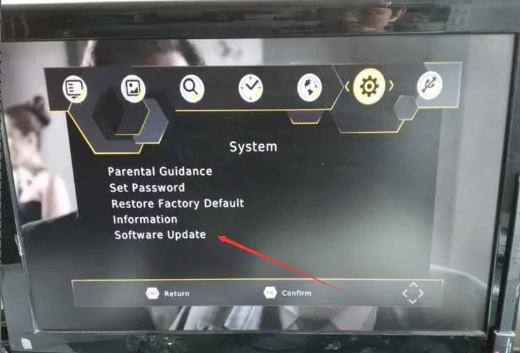 DVB-T2 software update