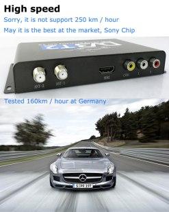 Car DVB-T2 H265 HEVC Codec Digital TV Receiver Auto Mobile Germany Standard 2 antenna H264 HD for all dvb country 16