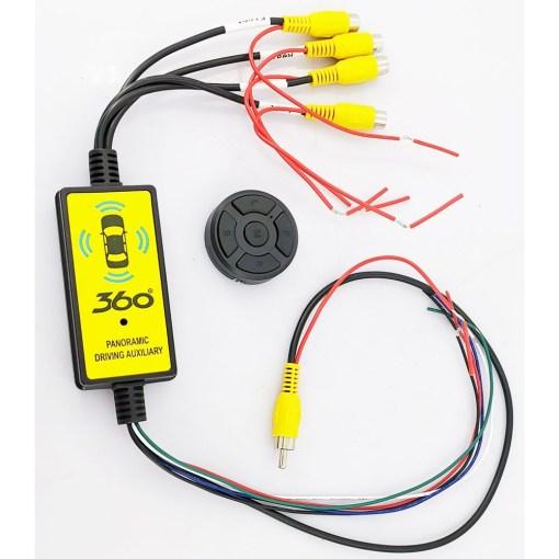 360 four camera input switcher
