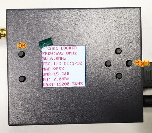 COFDM Wireless Reciever save parameter