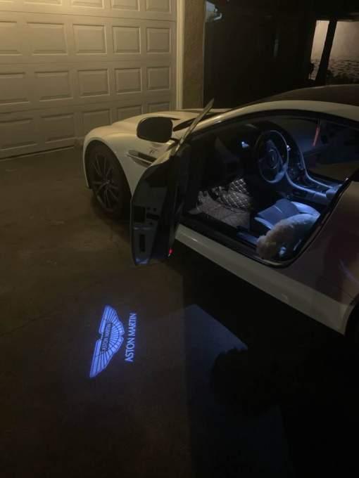 Courtesy lamp logo light door for Aston Martin DB9 DB11 DBS V8 V12 Vantage modification 2