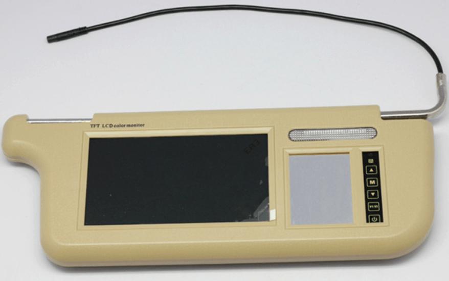 7 inch Sun Visor monitor 9 inch right left side black beige grey 11