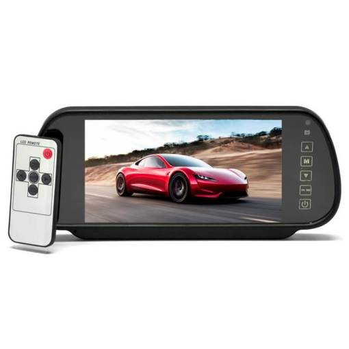 7 Inch Car Mirror Monitor Touch Button Auto Vehicle Parking Rear View Reverse HD Two inputs, install at original mirror RVM-700 5