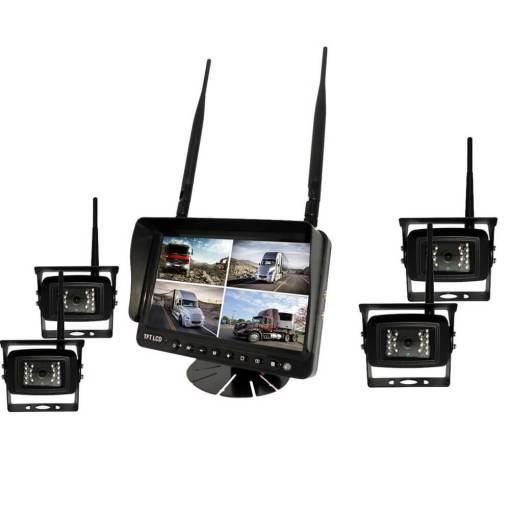 7 inch wireless DVR quad monitor