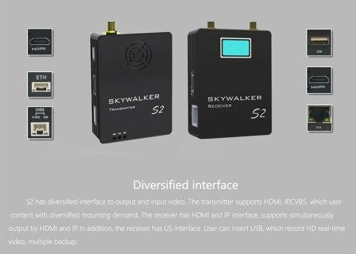 COFDM Digital Video Transmitter wireless HD video transmitter receiver full set transmission for UAV drone security camera 3