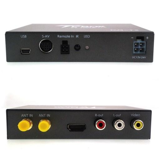 Car DVB-T2 H265 two diversity antenna high-speed automobile digital tv receiver DVBT H264 MPEG4 1080p HDMI out DVB-T267 DVB-T269 4