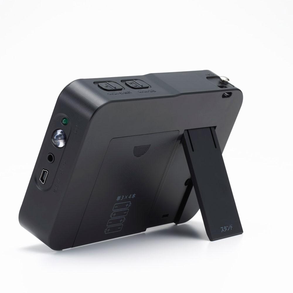FM/AMポータブルラジオ 2.8インチ液晶搭載 ワンセグテレビ付き ワイドFM対応 8