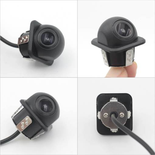 small straw hat rearview camera with 3 switches cuttable cable for parking guideline on/off, horizontal mirror on/off, vertical mirror on/off 1