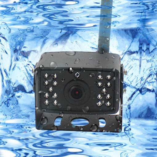 7 inch quad monitor wireless camera DVR for auto mobile truck Vehicle screen rear view monitor reverse backup recorder wifi camera 12