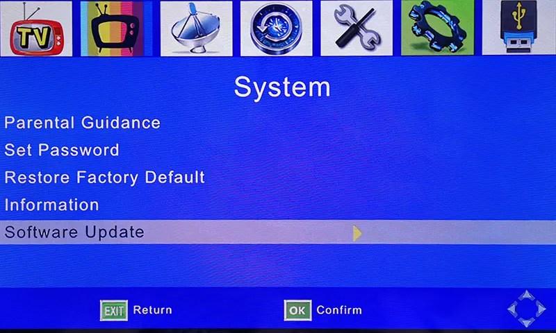 DVB-T24 4 antenna car DVB-T2 software upgrade firmware update 1