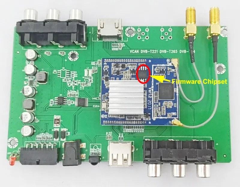 DVB-T2 firmware software chipset circuit