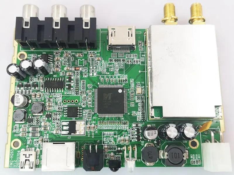 DVB-T267-sony-tuner-car-dvb-t2-TM2-H265-PCBA
