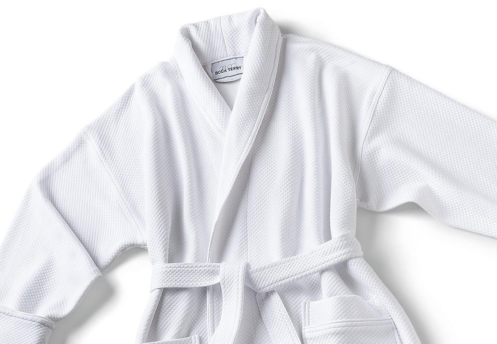 Peignoir Robe De Chambre Blanche Ivcom Inc