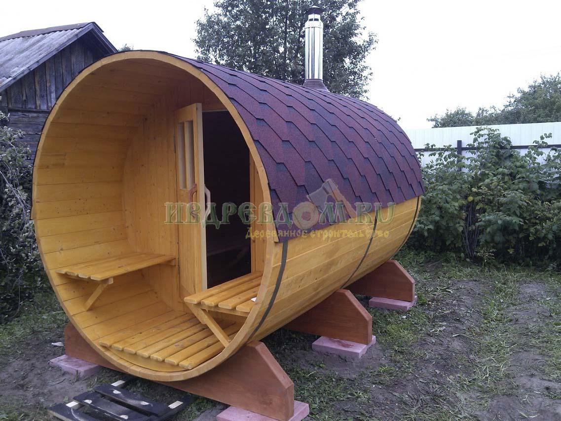 Баня бочка 3 метра
