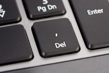 Computer keyboard button delete.