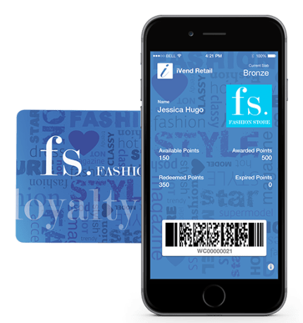 iVend Loyalty on a mobile phone device.