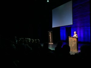 Here she is reading at the wordfest event a few weeks ago
