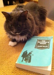 The suspense of this book really kept Smokey on her paws