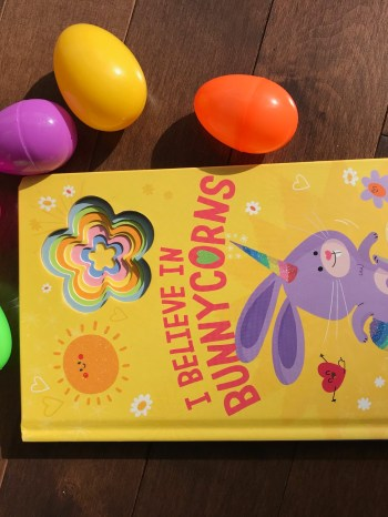 cover image of children's board book I Believe in Bunnycorns