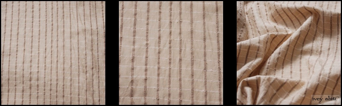 Antiqued Embroidered Plaid Silk from Ivey Abitz