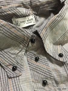 Highlands shirt in sparrow grey plaid poplin by Ivey Abitz