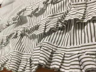 Maplehurst Frock in Morning Meadow Striped Cotton