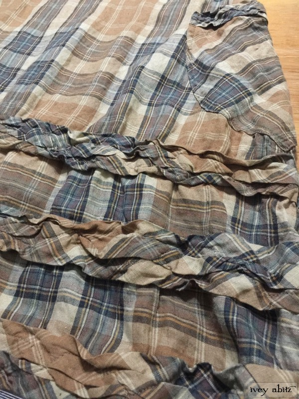 Tollie Frock in eternal spring plaid linen by Ivey Abitz