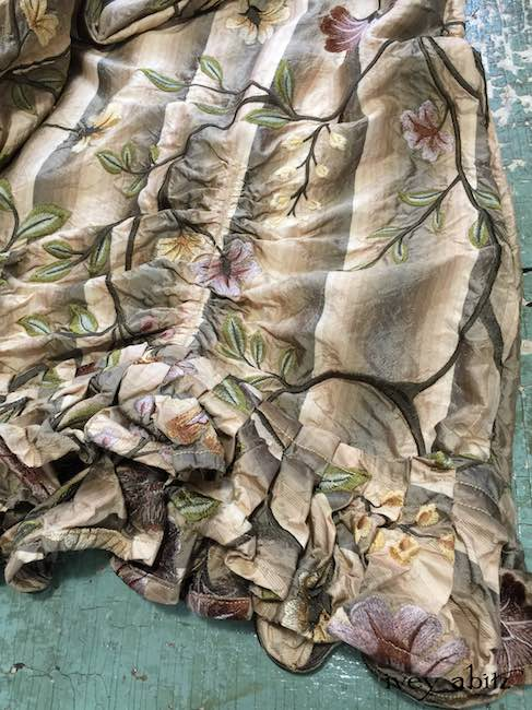 Edenshire Frock in Original Plaster Embroidered Washed Silk by Ivey Abitz