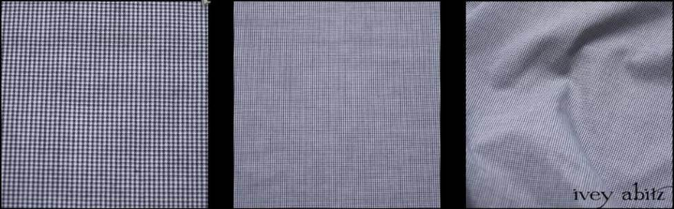 Black and White Checked Voile