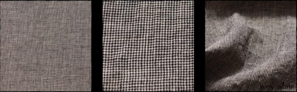 Chimney Washed Houndstooth Linen