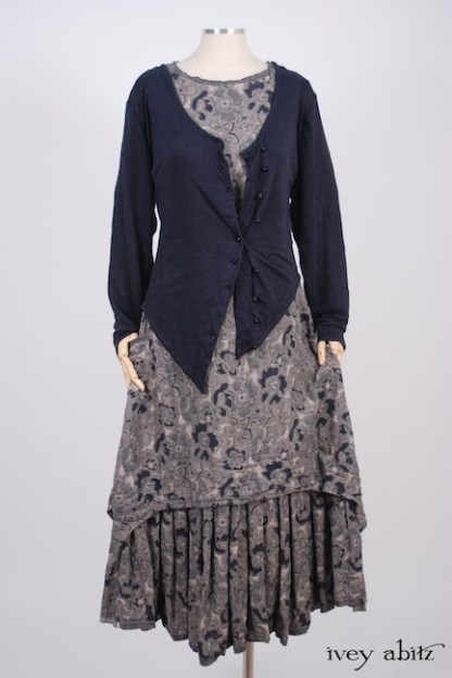 Elliot Jacket in Lakeland Lightweight Linen Knit; Limited Edition Blanchefleur Frock in Lakeland Floral Weave