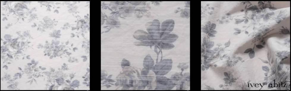 Misty Fog Floral Voile