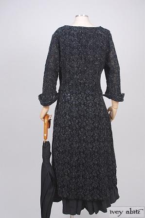 Dennison Dress in Dusk Wool Lace Knit - Size Small/Medium