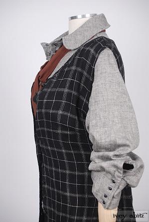 Truitt Frock in Inkwell Plaid Silk Linen - Size Medium
