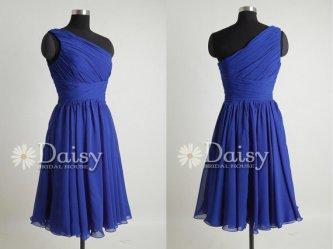 Daisy Bridal House - Blue Short Bridesmaids Dress - $79