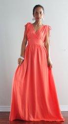 nuichan - coral maxi dress - $59