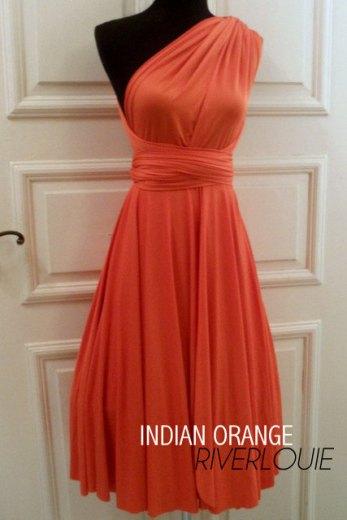 River Louie - Indian Orange Convertible Dress - $45