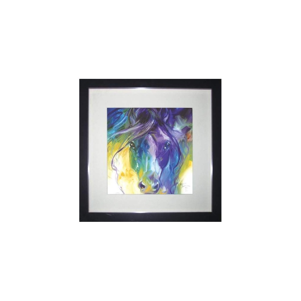 Abstract Blue Roan Shadow Box From Marcia Baldwin