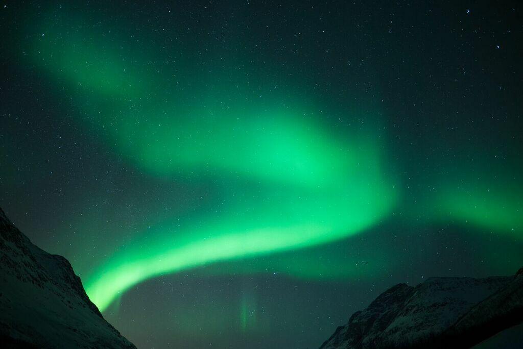 Vortice di aurora boreale.