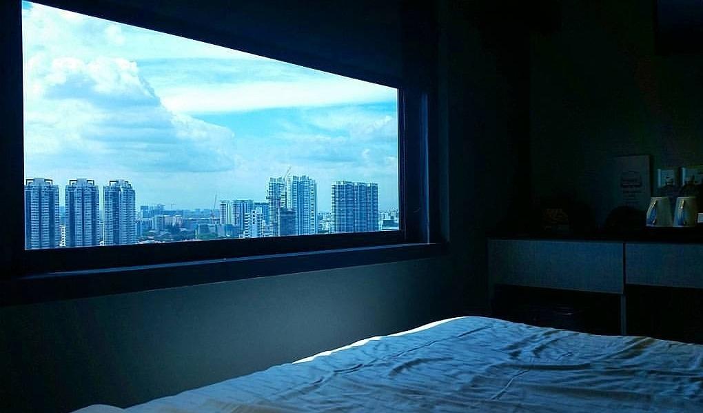vista dalla camera al the boss hotel