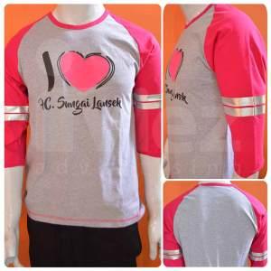 2Produsen dan Konveksi T Shirt Raglan 3/4 Sleeve Murah Lengan panjang di Bandung 0813-2184-7425