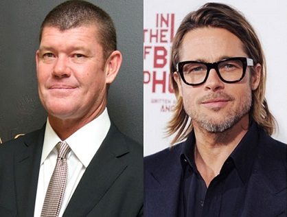 James Packer and Brad Pitt