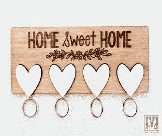 Suport de Chei cu Brelocuri Home Sweet Home