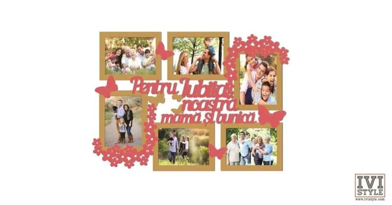 Rama Foto Personalizata Pentru iubita noastra mama si bunica