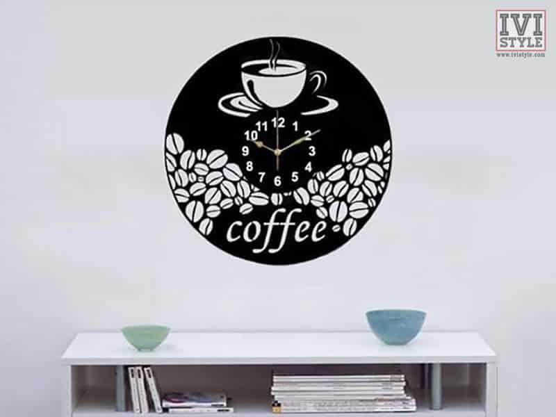 ceas personalizat pentru bucatarie sau cafenea coffee