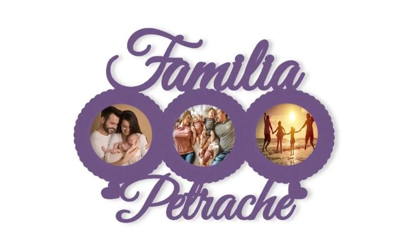 Rama Familia Personalizata cu 3 Cercuri