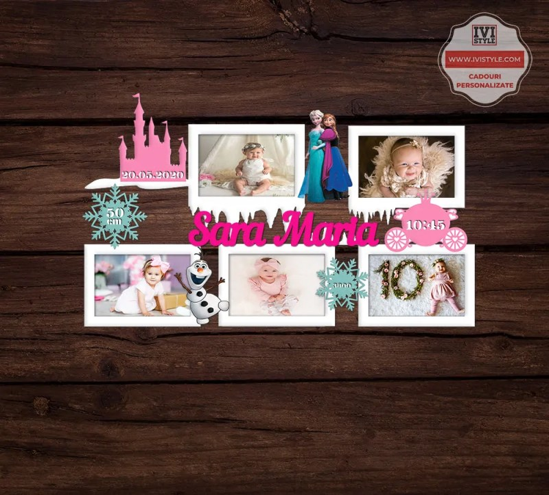Rama Foto Personalizata Frozen Elsa Anna Olaf