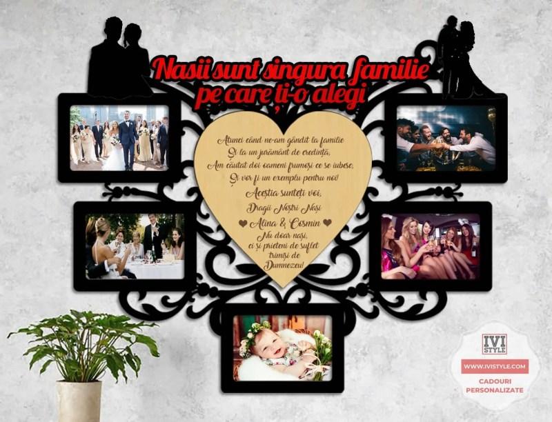 Rama Foto Nasii sunt singura familie pe care ti-o alegi cu gravura 01