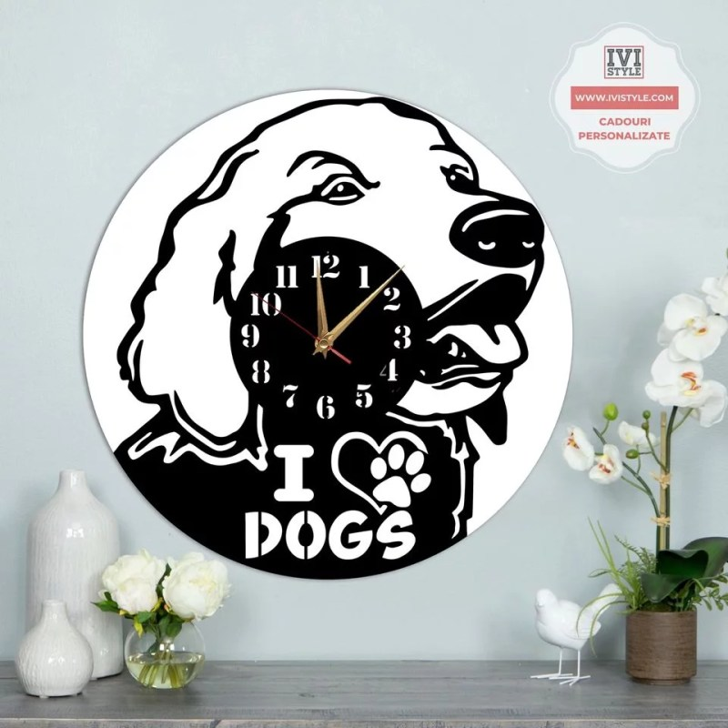 Ceas Personalizat Catei I Love Dogs
