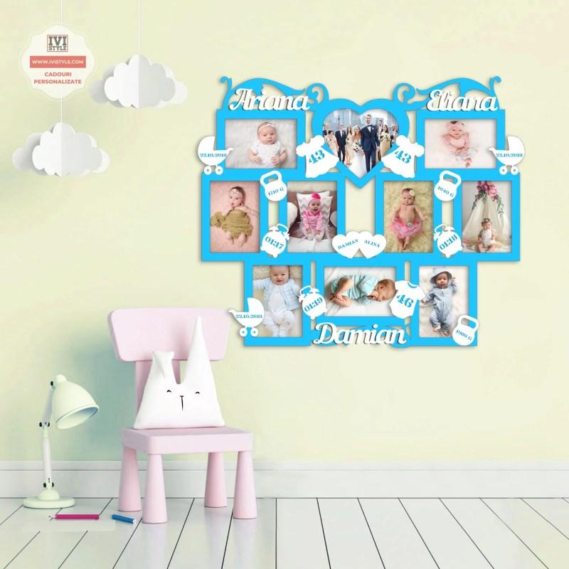 Rame Foto Personalizate Bebelusi pentru trei copii nr 33